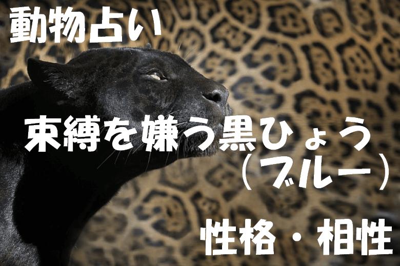 動物占い 黒ひょう ブルー