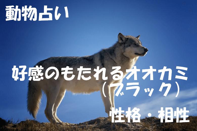 動物占い オオカミ ブラック